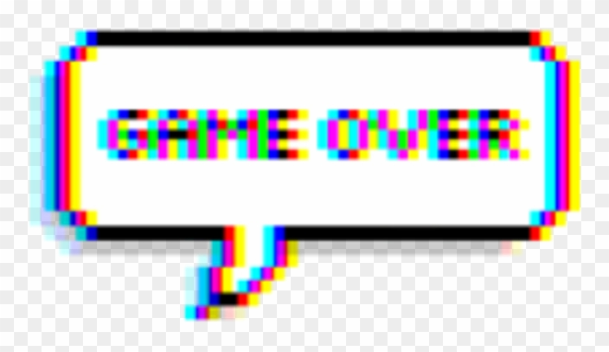 Clipart glitch png library download Game Gameover Glitch Tumblr Balloon Text - Picsart Game Over Clipart ... png library download