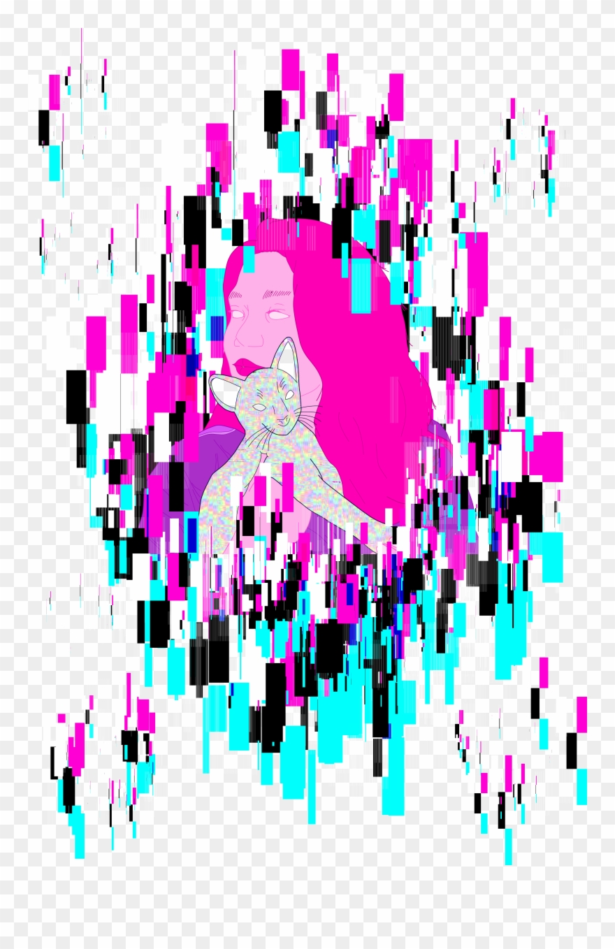 Clipart glitch svg library library Vapor Wave Glitch Girl V Clipart (#3553462) - PinClipart svg library library