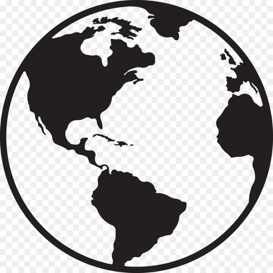 Clipart globe earth black white banner freeuse Earth Black And White png download - 1800*1800 - Free Transparent ... banner freeuse