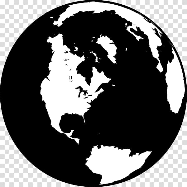 Clipart globe earth black white vector stock Globe Black and white World , Earth Black And White transparent ... vector stock