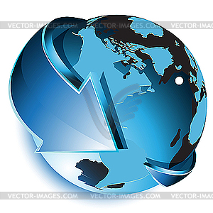 Clipart globe with arrow banner royalty free Clipart globe with arrow - ClipartFest banner royalty free