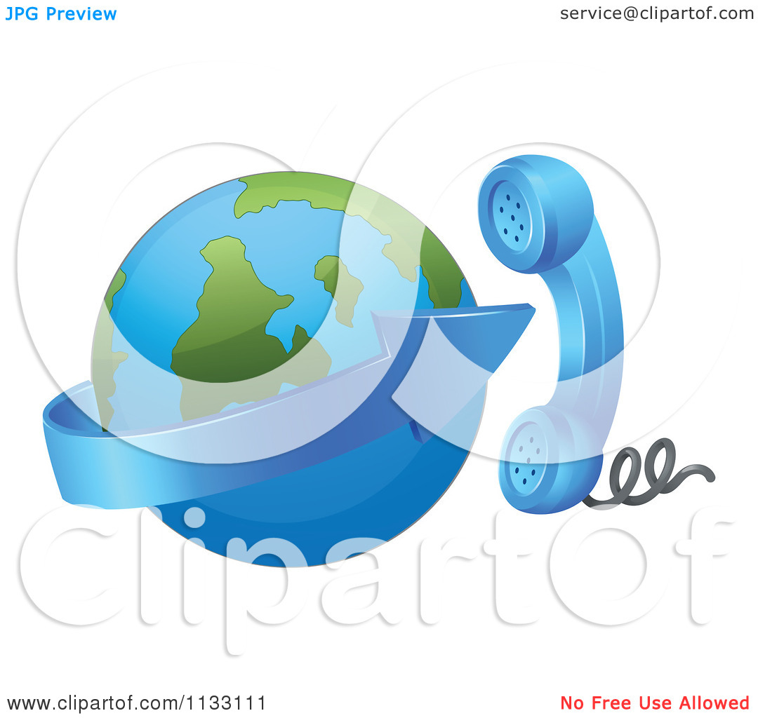 Clipart globe with arrow vector royalty free download Cartoon Of A Contact Globe Arrow And Phone - Royalty Free Vector ... vector royalty free download