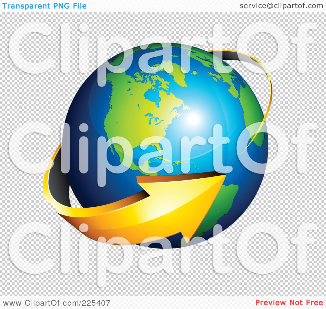 Clipart globe with arrow vector free download Royalty-Free (RF) Clipart Illustration of a 3d Orange Arrow ... vector free download