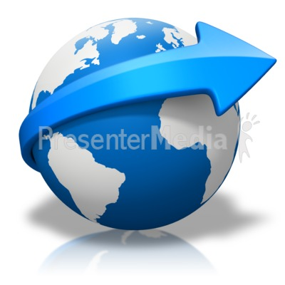 Clipart globe with arrow graphic freeuse download World Arrow Curve - Presentation Clipart - Great Clipart for ... graphic freeuse download
