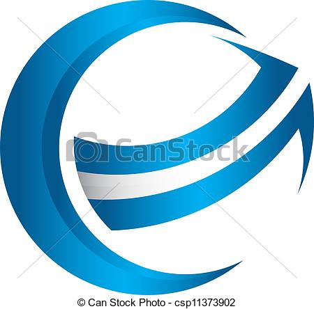Clipart globe with arrow image black and white download Vector Clipart of 3D global arrow - Curved arrow around a globe ... image black and white download