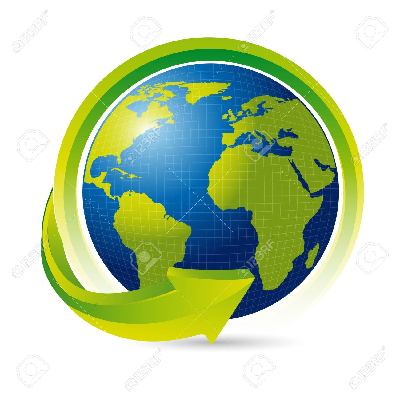 Clipart globe with arrow clipart free stock Earth With Arrow Over White Background. Royalty Free Cliparts ... clipart free stock