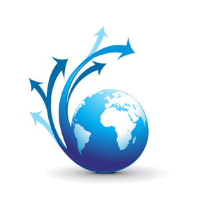 Clipart globe with arrow picture freeuse Swirl Arrow Globe Vector | Free Images at Clker.com - vector clip ... picture freeuse