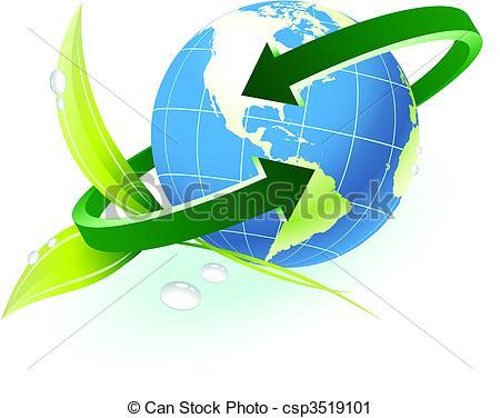 Clipart globe with arrow clip art royalty free Vector Clip Art of Globe with arrow with nature background ... clip art royalty free