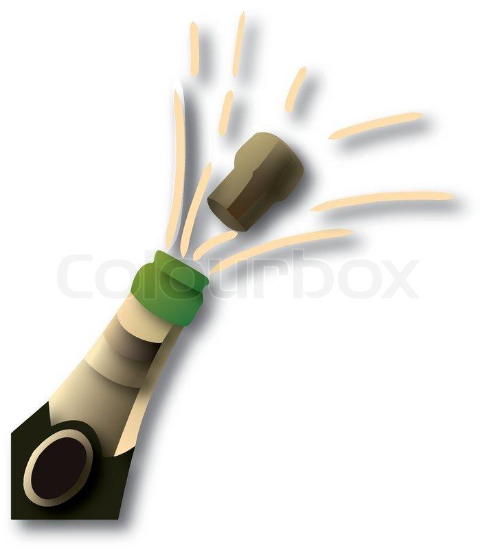 Clipart glser und flaschen clip transparent stock Flasche Champagner | Vektorgrafik | Colourbox clip transparent stock
