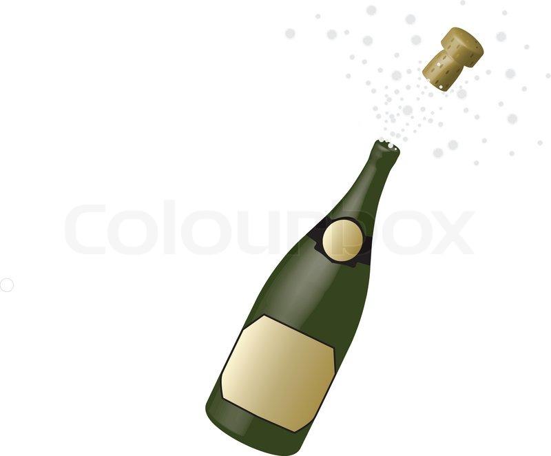 Clipart glser und flaschen jpg black and white stock Flasche Champagner | Vektorgrafik | Colourbox jpg black and white stock