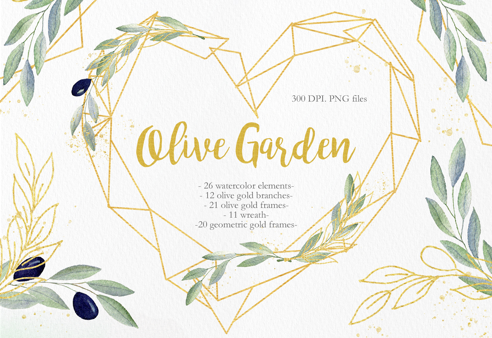 Clipart gold collection clip library library Olive Garden Clipart Collection in Illustrations on Yellow Images ... clip library library