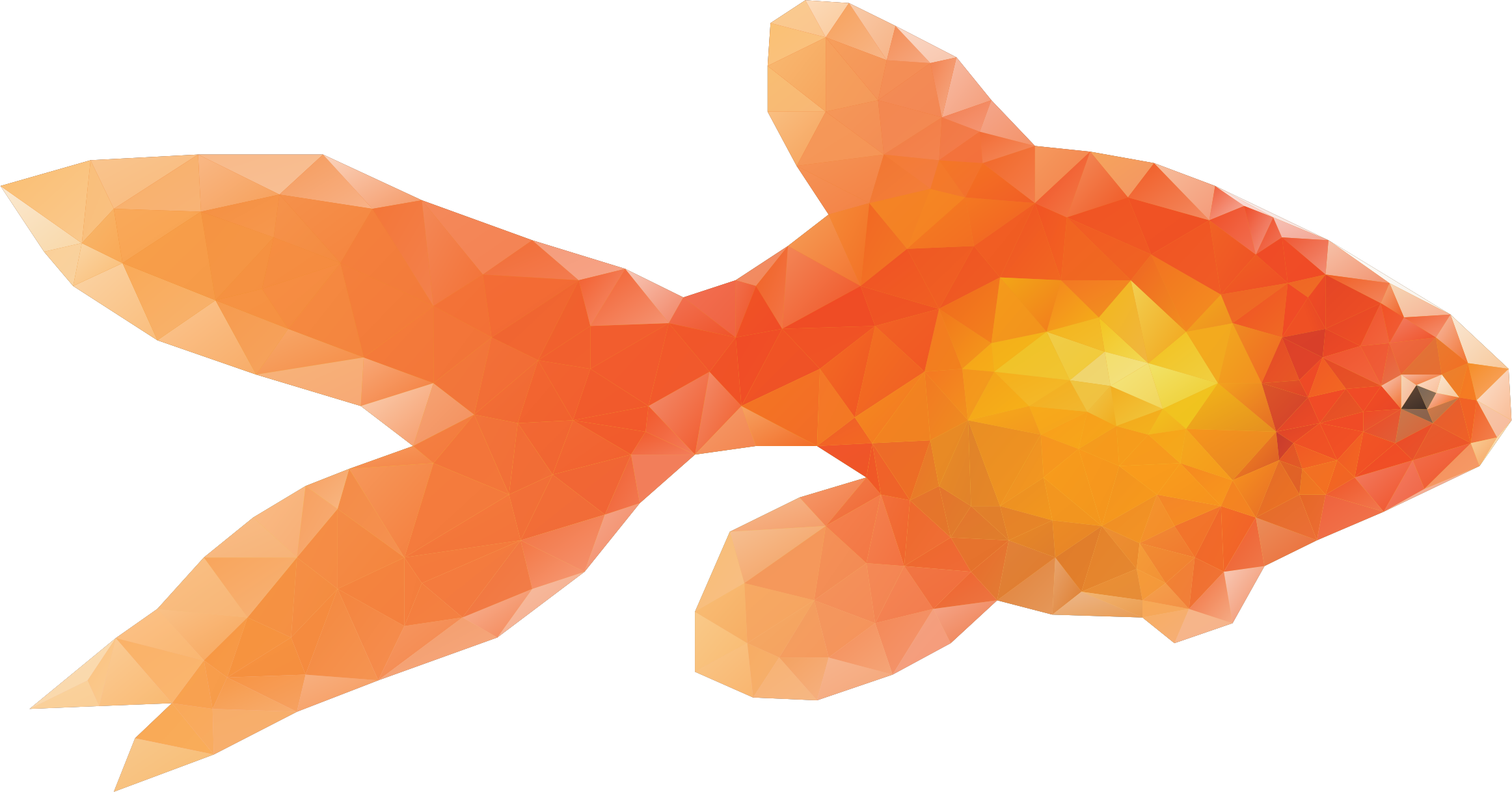 Clipart gold fish picture free Clipart - Low Poly Goldfish picture free