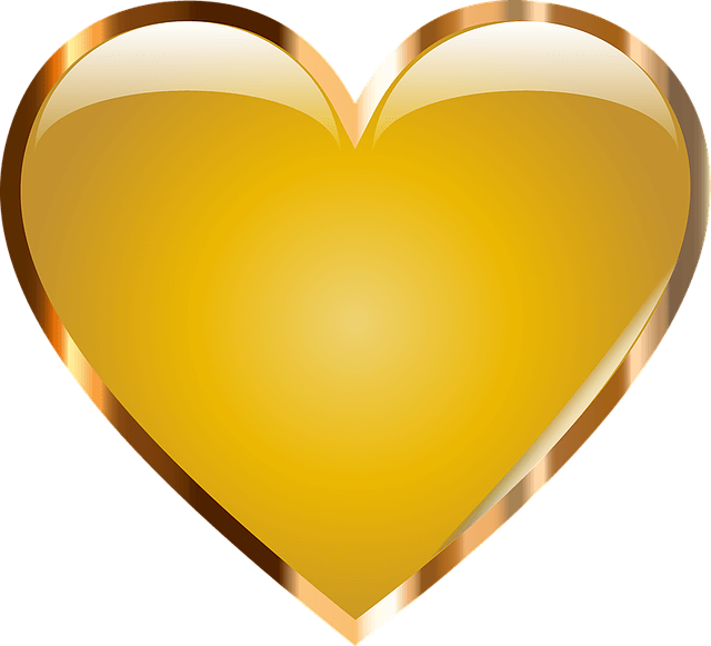Gold heart clipart picture stock Gold Heart Png Transparent picture stock
