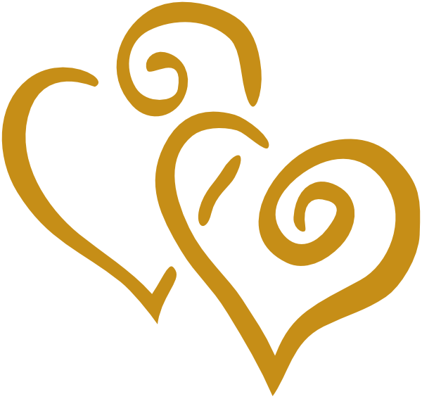 Gold heart clipart picture transparent library Gold Hearts Clip Art at Clker.com - vector clip art online, royalty ... picture transparent library