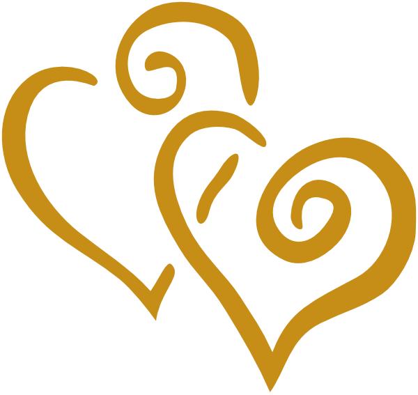 Dolphin heart clipart. Gold hearts clip art
