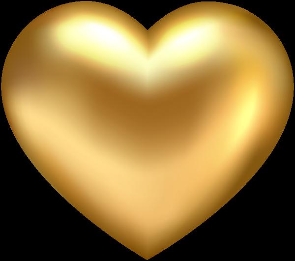 Clipart gold heart clipart stock Golden Heart Transparent PNG Clip Art   Gallery Yopriceville - High ... clipart stock
