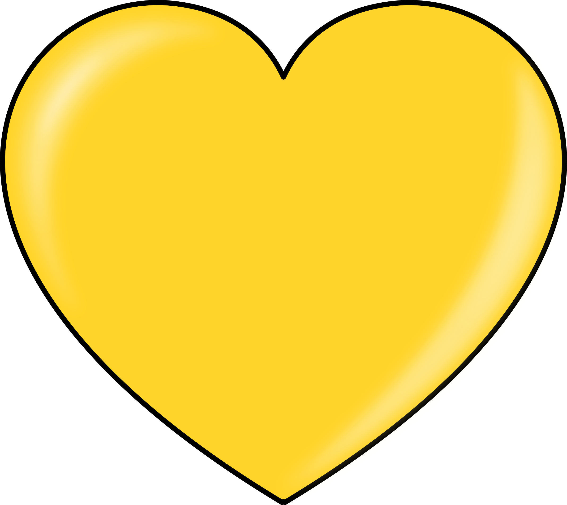 Gold heart outline clipart picture royalty free stock Clipart - gold heart picture royalty free stock