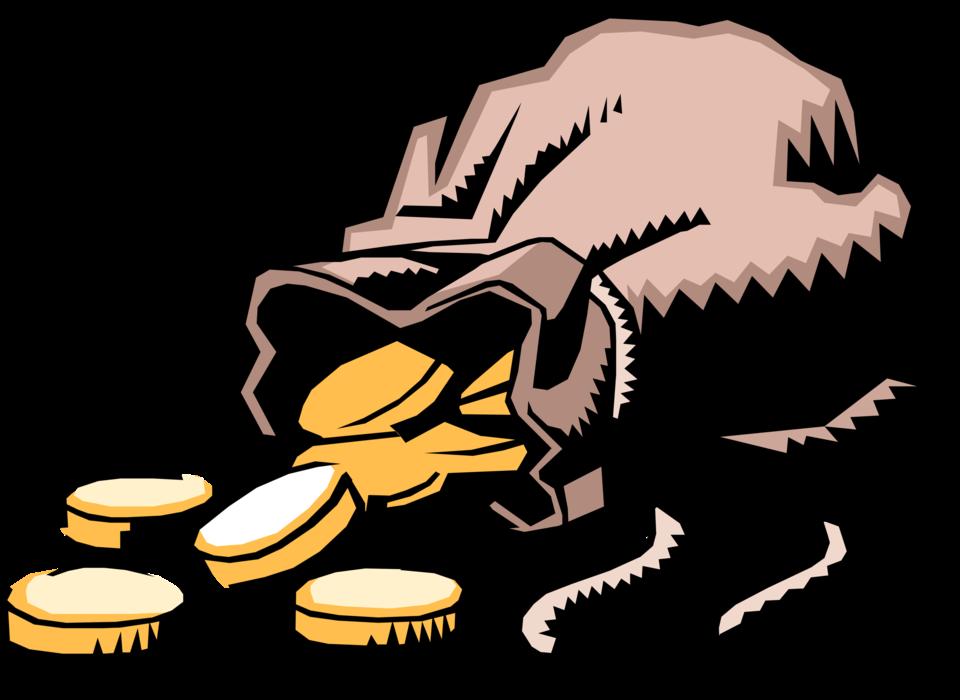 Clipart gold money bag clip art Money Bag Full of Gold Coins - Vector Image clip art