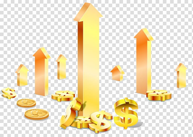 Clipart gold price today svg royalty free Gold-colored dollar sign , Cartoon Economic growth Illustration ... svg royalty free