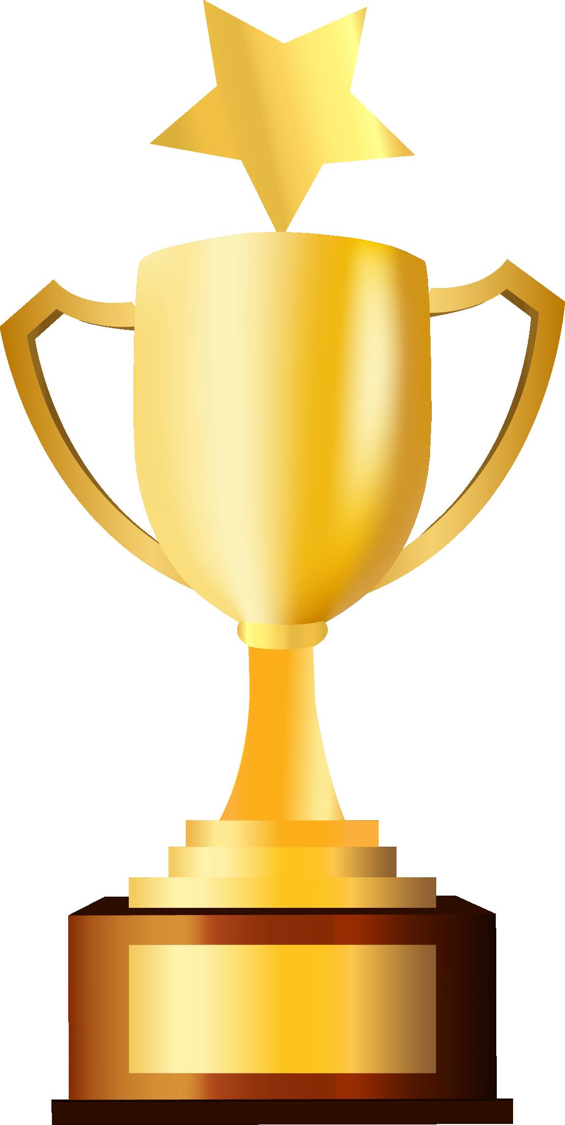 Clipart gold star award svg freeuse download Trophy Prize Clip art - Golden five pointed star trophy 1110*2207 ... svg freeuse download