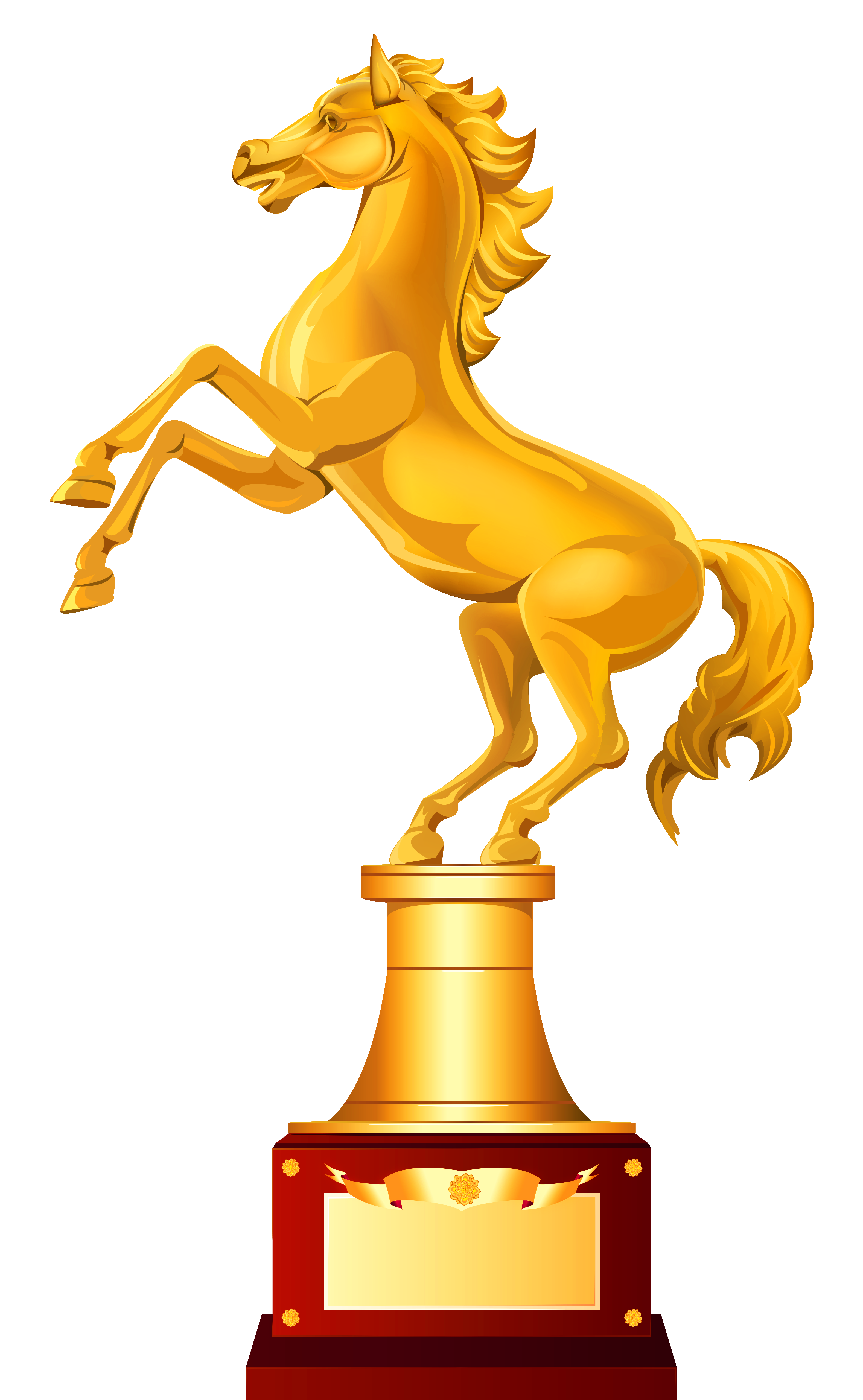 Clipart gold star award transparent download Golden Horse Trophy PNG Clipart Image | Gallery Yopriceville - High ... transparent download