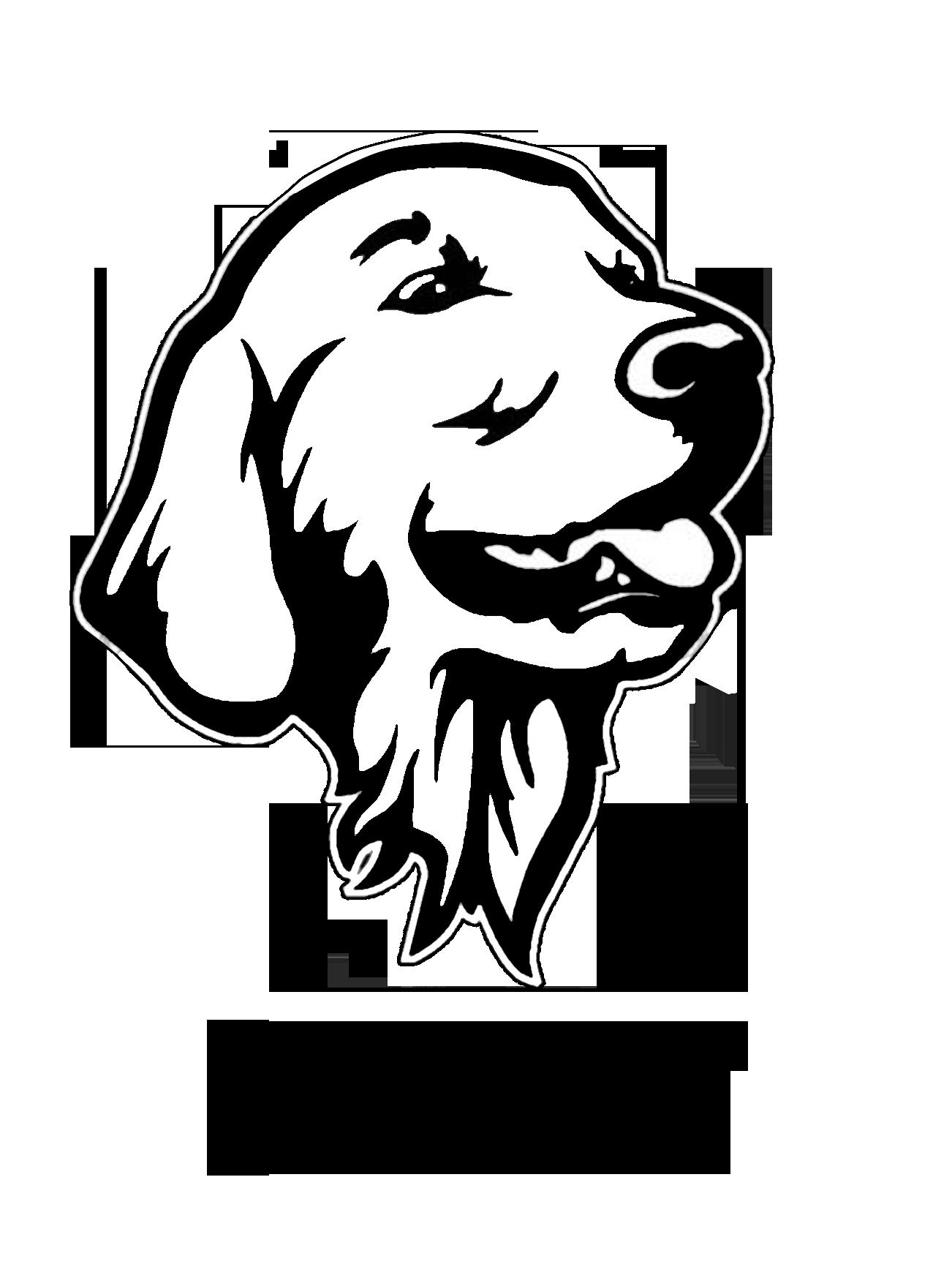 Clipart golden retriever dog clipart freeuse Personalized golden retriever decal/sticker clipart freeuse