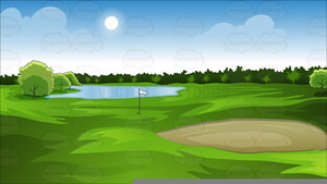 Clipart golf course clipart library Golf Course Scene Clipart | Free Images at Clker.com - vector clip ... clipart library