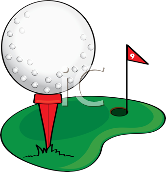 Clipart golf images banner stock Royalty Free Clipart Image of a Golf Ball on a Tee #379250 ... banner stock