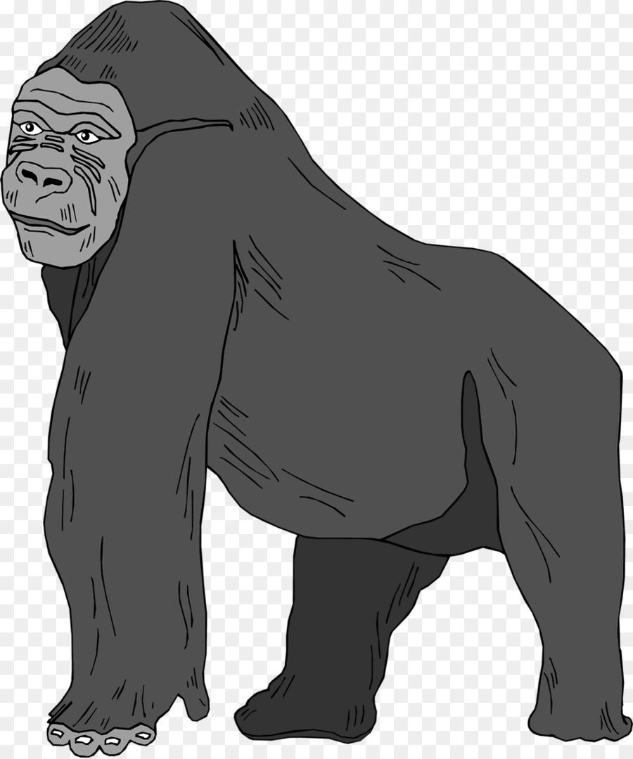 Clipart gorilla graphic freeuse Gorilla Cartoon clipart - Illustration, Graphics, Black, transparent ... graphic freeuse