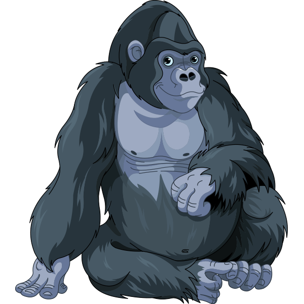 Clipart gorilla royalty free library Thoughtful Gorilla | Animal Icons | Animal drawings, Clip art ... royalty free library