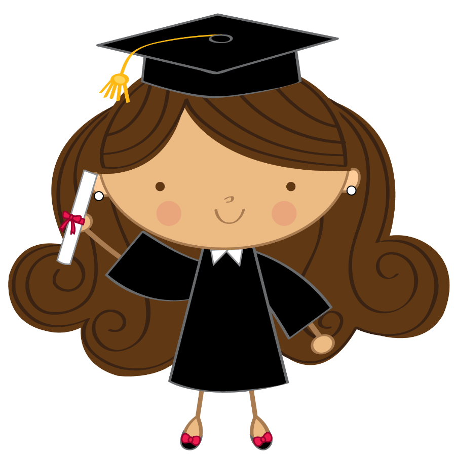 Clipart graduation cap and gown scrolls money black and white Minus - Say Hello! | Graduación | Pinterest | Clip art, Planners and ... black and white