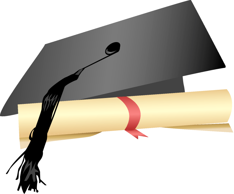 Clipart graduation cap and gown scrolls money picture black and white Education required for this job is a high school diploma and a ... picture black and white