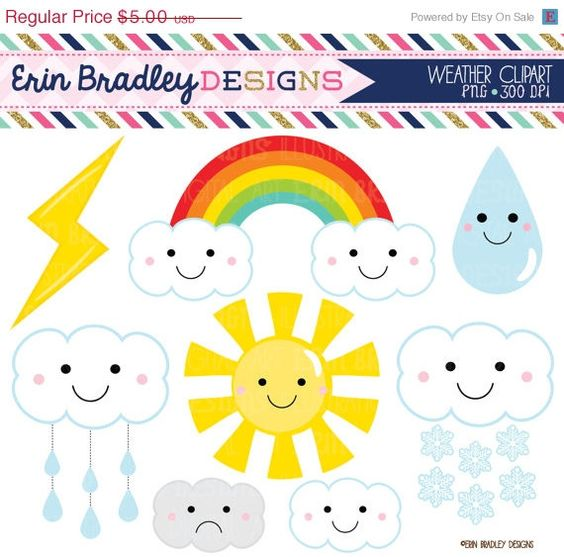 Clipart graphics graphic transparent stock Weather Clipart Graphics Digital Clip Art Sun Rainbow Clouds ... graphic transparent stock
