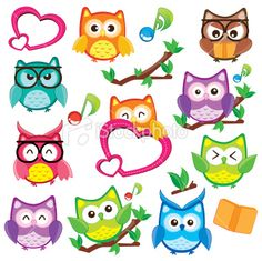 Clipart graphics free download royalty free Owls and friends Digital clip art for Personal and Commercial use ... royalty free