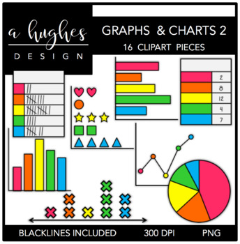 Clipart graphs jpg library library Graphs & Charts 2 Clipart {A Hughes Design} jpg library library