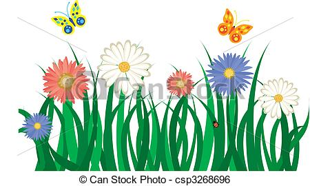 Clipart grass and flowers graphic Grass And Flowers Clip Art | Clipart Panda - Free Clipart Images graphic