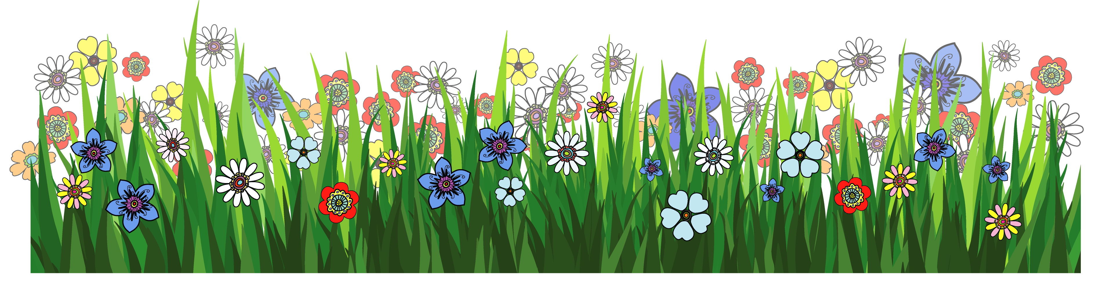 Clipart grass and flowers clipart royalty free library Grass and Flowers Clip Art – Clipart Free Download clipart royalty free library