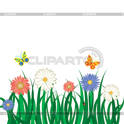 Clipart grass and flowers banner black and white library Grass And Flowers Clip Art | Clipart Panda - Free Clipart Images banner black and white library