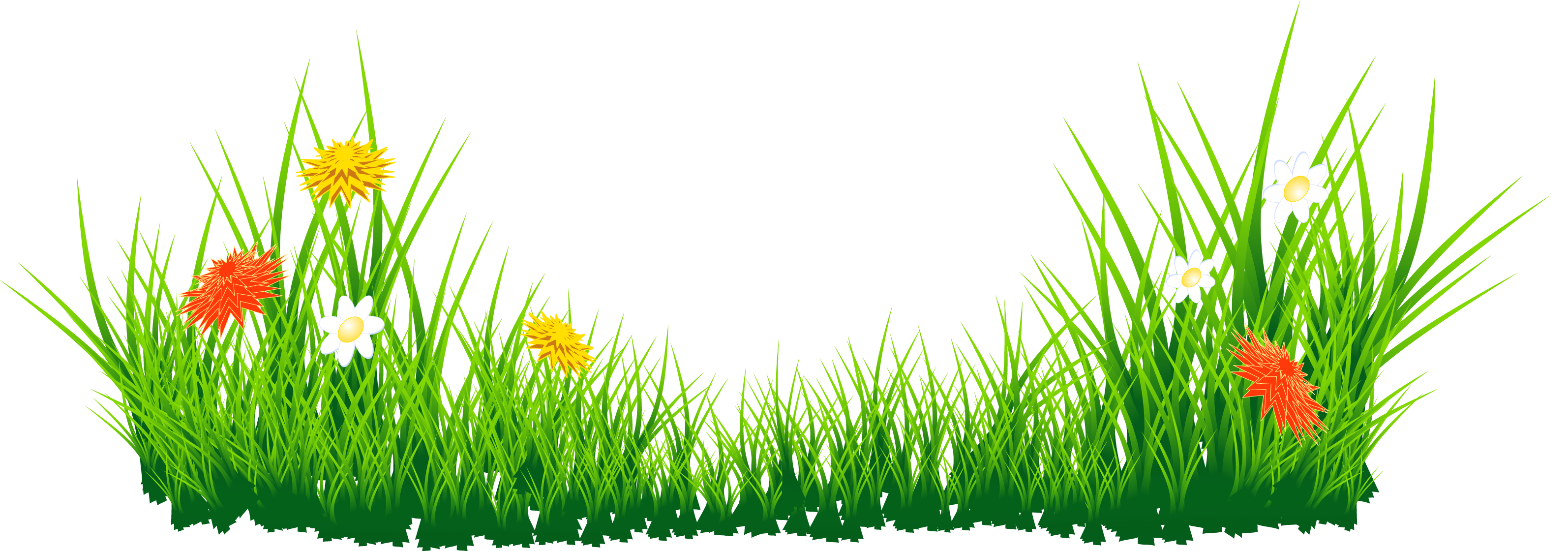 Clipart grass and flowers vector freeuse Clipart grass and flowers - ClipartFest vector freeuse