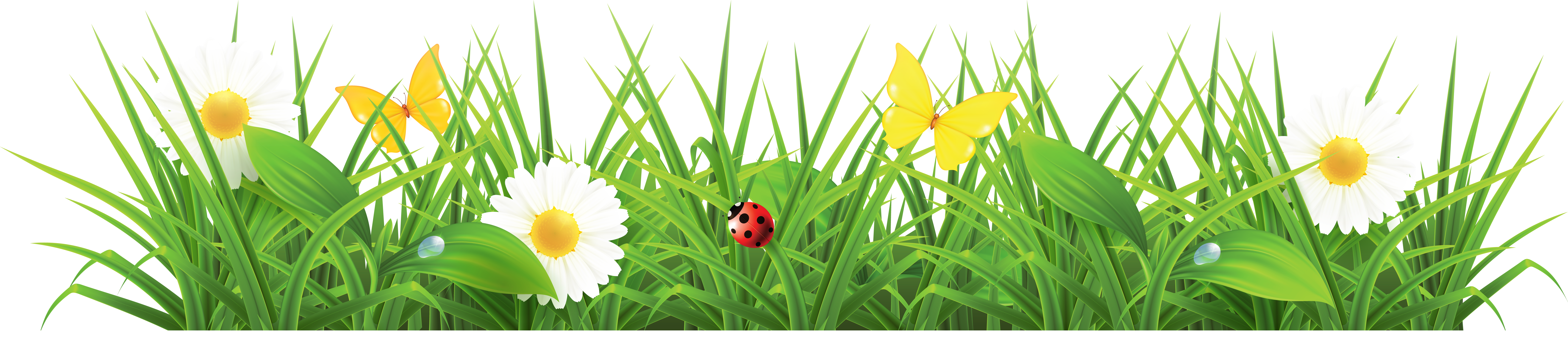 Clipart grass and flowers banner library stock Flowers grass clipart - ClipartFest banner library stock