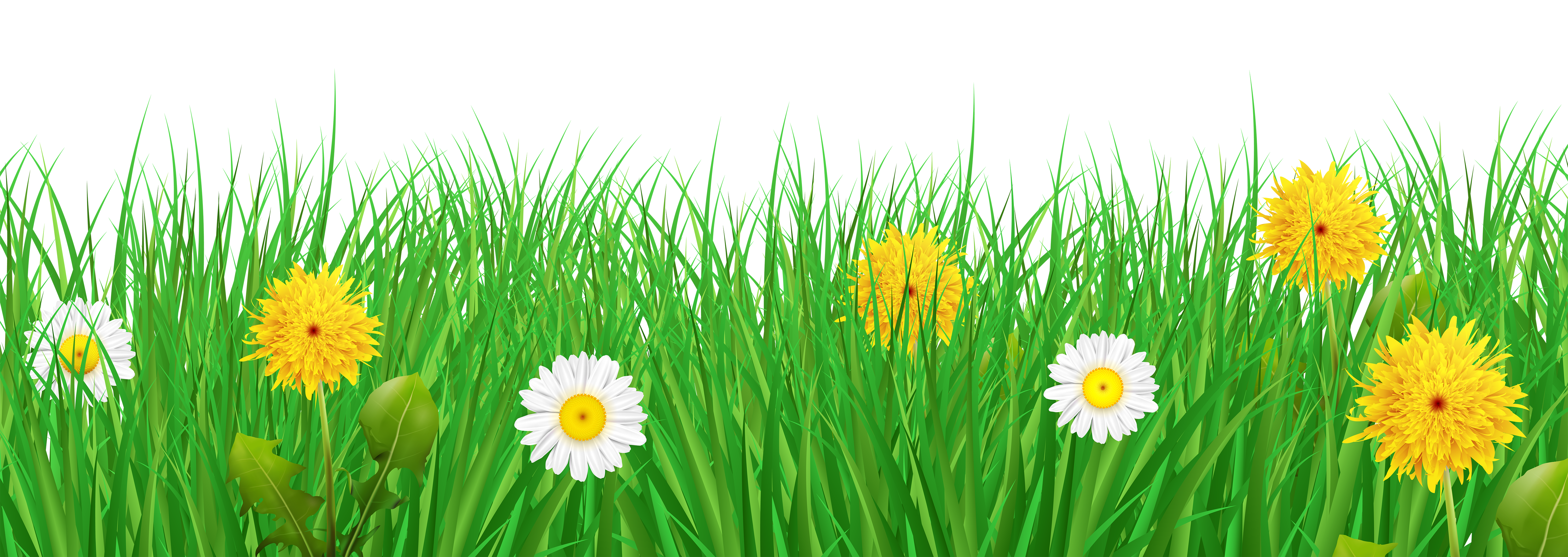 Clipart grass and flowers svg transparent Grass and Flowers Transparent PNG Clip Art Image svg transparent