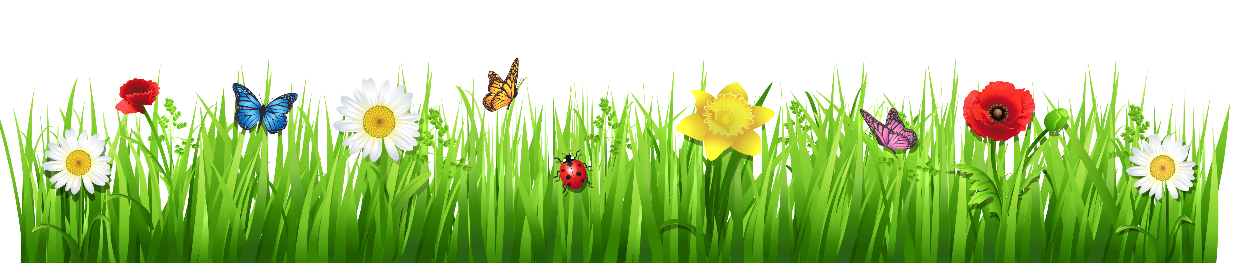 Flower and grass clipart banner free Grass and Flowers Clip Art – Clipart Free Download banner free
