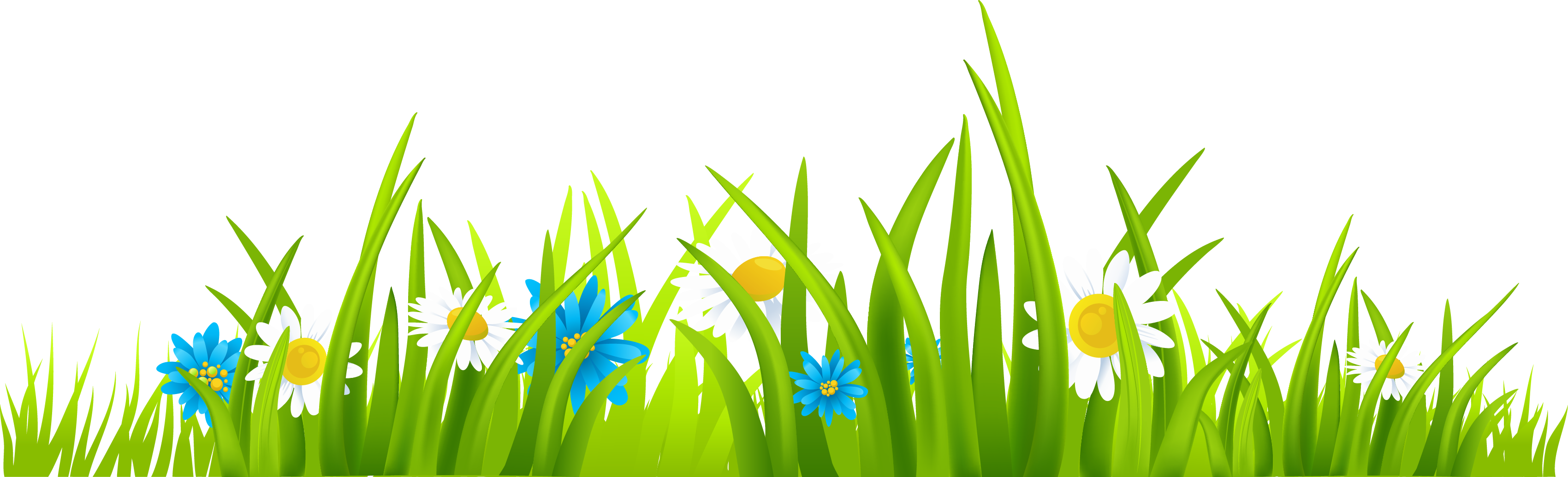 Flower and grass clipart free Clipart grass and flowers - ClipartFest free