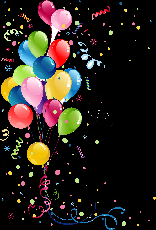 Clipart gratuit anniversaire vector freeuse stock Remerciement Anniversaire, Carte Anniversaire Femme, - Balloons ... vector freeuse stock
