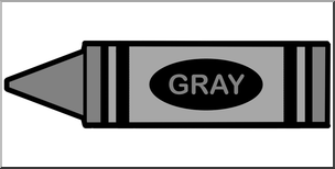 Clipart gray vector black and white Clip Art: Crayon Gray Color I abcteach.com | abcteach vector black and white