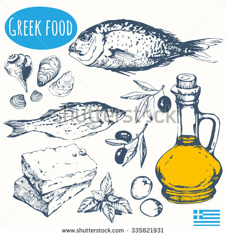 Clipart greek food banner freeuse library Ancient greek food clipart - ClipartFest banner freeuse library