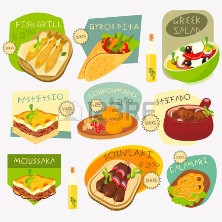 Clipart greek food picture black and white 1,786 Greek Food Stock Illustrations, Cliparts And Royalty Free ... picture black and white