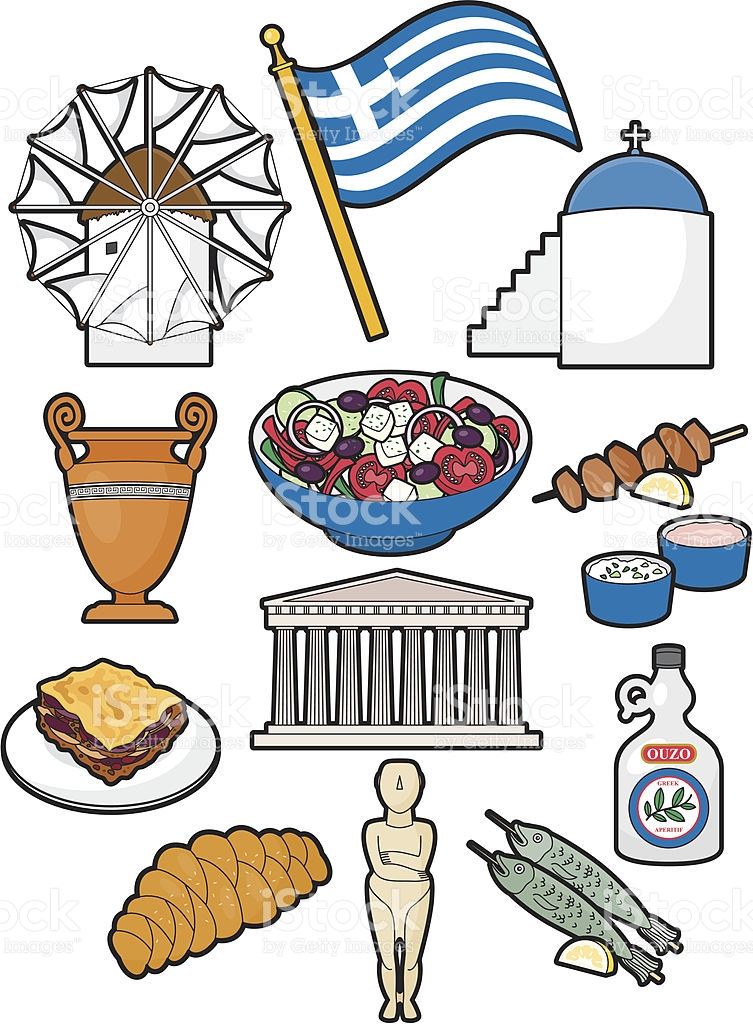 Clipart greek food png royalty free library Greek Food And Culture stock vector art 165595827 | iStock png royalty free library