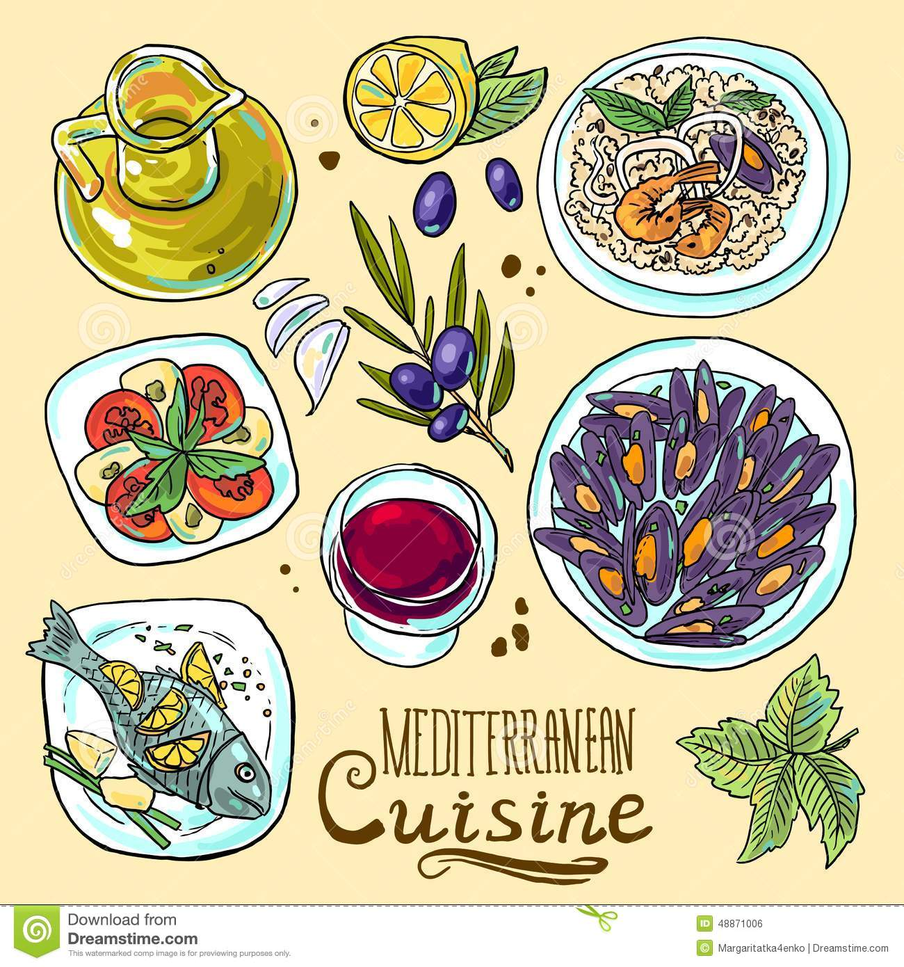 Clipart greek food banner transparent library Greek food clipart - ClipartFest banner transparent library