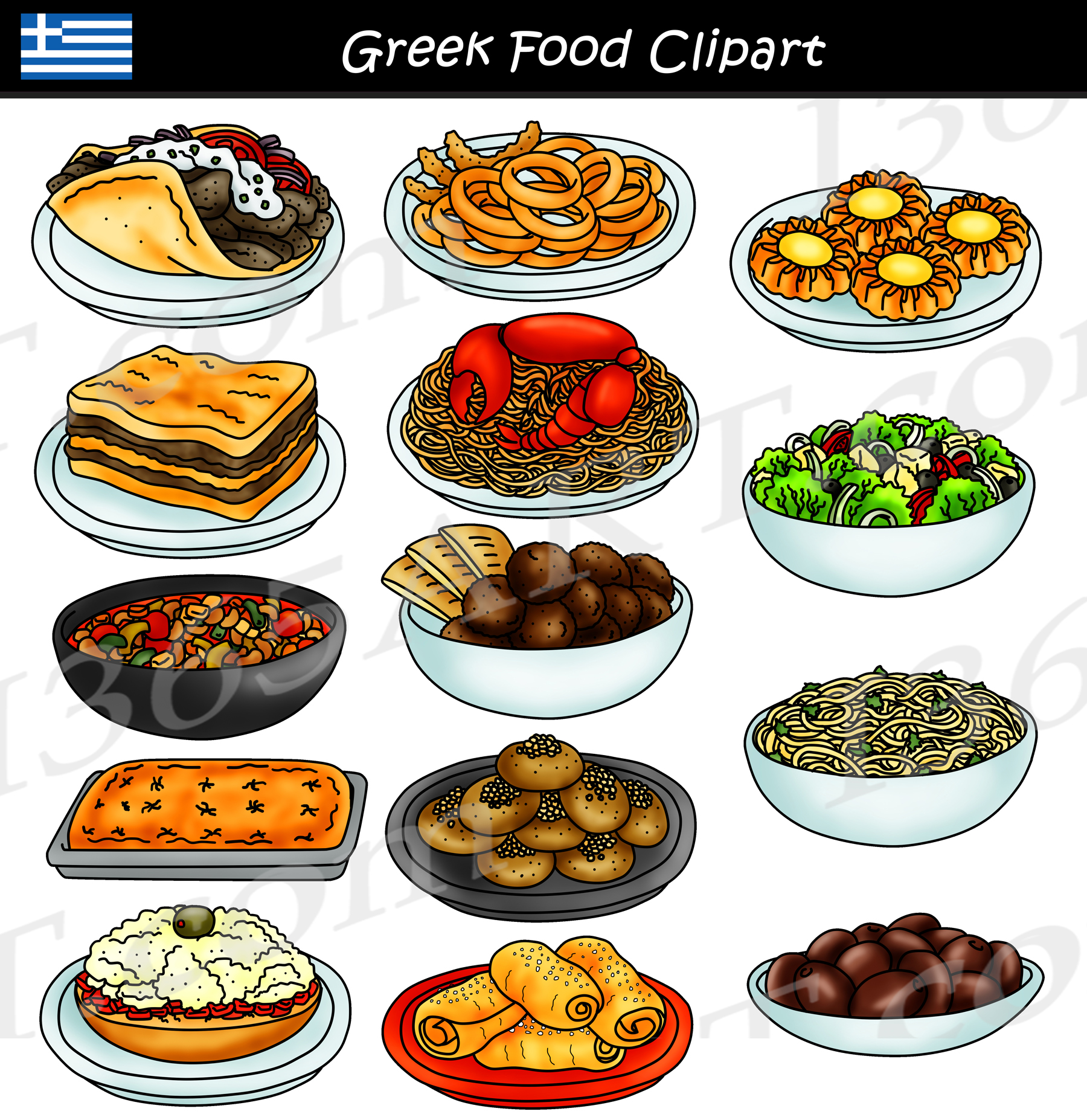Clipart greelk picture Greek Food Clipart Graphics Download picture